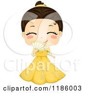 Cute Filipino Girl Wearing A Traditional Barot Saya