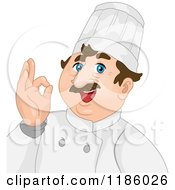 Cartoon Of A Happy Male Chef Gesturing Okay Royalty Free Vector Clipart