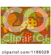 Cartoon Of A Seamless Background Of Patterned Paisleys Royalty Free Vector Clipart