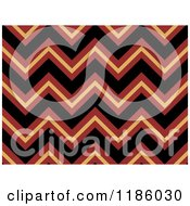Cartoon Of A Seamless Brown And Black Chevron Pattern Royalty Free Vector Clipart