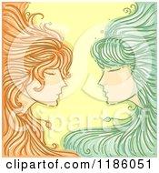 Twin Gemini Horoscope Zodiac Background