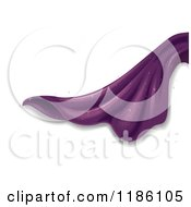 Cartoon Of Sparkling Purple Fabric Royalty Free Vector Clipart
