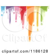 Cartoon Of A Dripping Colorful Paint Royalty Free Vector Clipart