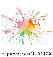 Cartoon Of A Splatter Of Colorful Paint Royalty Free Vector Clipart by BNP Design Studio