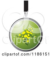 Clipart Of A Magnifying Glass Over A Poison Dart Frog Royalty Free Vector Illustration by Lal Perera