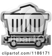 Clipart Of A Silver Mining Cart Icon Royalty Free Vector Illustration by Lal Perera