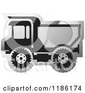 Clipart Of A Silver Mining Dump Truck Icon Royalty Free Vector Illustration by Lal Perera