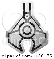 Clipart Of A Silver Mining Clamp Icon Royalty Free Vector Illustration