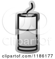 Clipart Of A Silver Mining Detonator Button Icon Royalty Free Vector Illustration