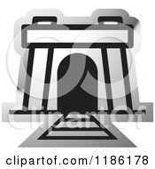 Clipart Of A Silver Mine Entrance Icon Royalty Free Vector Illustration by Lal Perera