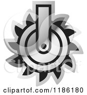 Clipart Of A Silver Mining Saw Icon Royalty Free Vector Illustration
