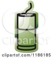 Clipart Of A Green Mining Detonator Button Icon Royalty Free Vector Illustration