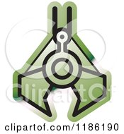 Clipart Of A Green Mining Clamp Icon Royalty Free Vector Illustration