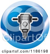 Clipart Of A Blue Mining Jackhammer Icon Royalty Free Vector Illustration by Lal Perera