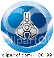 Clipart Of A Blue Mining Clamp Icon Royalty Free Vector Illustration by Lal Perera