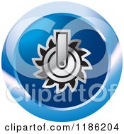 Clipart Of A Blue Mining Saw Icon Royalty Free Vector Illustration by Lal Perera