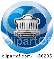 Clipart Of A Blue Mining Cart Icon Royalty Free Vector Illustration by Lal Perera