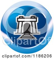 Clipart Of A Blue Mine Entrance Icon Royalty Free Vector Illustration by Lal Perera