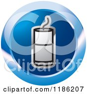Clipart Of A Blue Mining Detonator Button Icon Royalty Free Vector Illustration