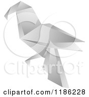 Clipart Of A Paper Origami Bird Royalty Free Vector Illustration