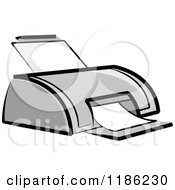 Clipart Of A Desktop Computer Printer Royalty Free Vector Illustration