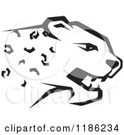 Clipart Of A Black And White Cheetah Royalty Free Vector Illustration by Lal Perera