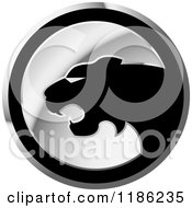 Clipart Of A Silver Cheetah Icon 3 Royalty Free Vector Illustration by Lal Perera