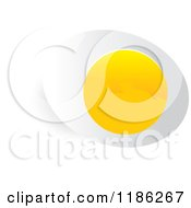 Clipart Of A Halved Boiled Egg Royalty Free Vector Illustration