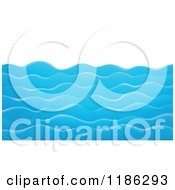 Cartoon Of Choppy Blue Water Waves Royalty Free Vector Clipart