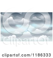 Cartoon Of A Gray Cloudy Sky Background Royalty Free Vector Clipart