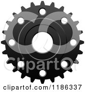 Clipart Of A Black And White Gear Cog Wheel 2 Royalty Free Vector Illustration