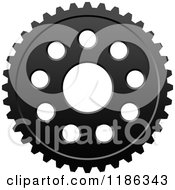 Clipart Of A Black And White Gear Cog Wheel 8 Royalty Free Vector Illustration