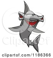 Clipart Of A Red Eyed Hammerhead Shark 2 Royalty Free Vector Illustration