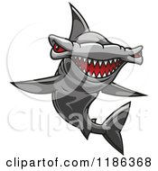 Clipart Of A Red Eyed Hammerhead Shark Royalty Free Vector Illustration