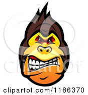Clipart Of A Mad Gorilla Face Royalty Free Vector Illustration by Vector Tradition SM