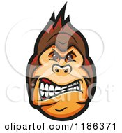 Clipart Of A Mad Gorilla Face 2 Royalty Free Vector Illustration by Vector Tradition SM