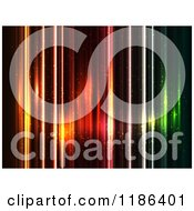 Clipart Of A Background Of Colorful Sparkly Lights On Black Royalty Free Vector Illustration