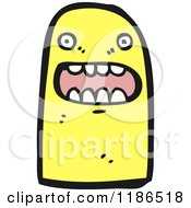 Cartoon Of A Yellow Monster Royalty Free Vector Illustration