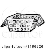 Cartoon Of A Shopping Basket Royalty Free Vector Illustration