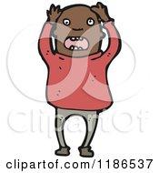 Cartoon Of An Angry Black Man Royalty Free Vector Illustration