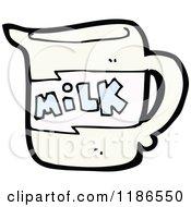 Cartoon Of A Milk Pitcher Royalty Free Vector Illustration