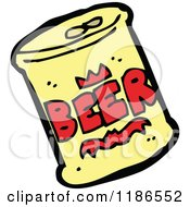 Cartoon Of A Can Of Beer Royalty Free Vector Illustration