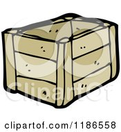 Cartoon Of A Wodden Crate Royalty Free Vector Illustration