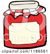Cartoon Of A Jar Of Preserves Royalty Free Vector Illustration by lineartestpilot