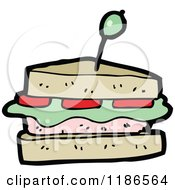 Cartoon Of A Sandwich Royalty Free Vector Illustration
