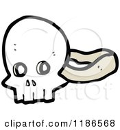 Cartoon Of A Skull Mask Royalty Free Vector Illustration by lineartestpilot