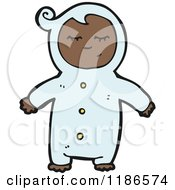 Cartoon Of A Toddler In Pajamas Royalty Free Vector Illustration by lineartestpilot