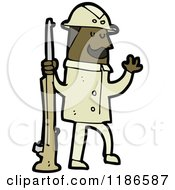 Cartoon Of A Big Game Hunter Royalty Free Vector Illustration by lineartestpilot