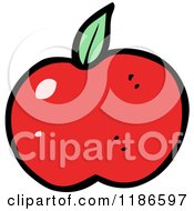 Cartoon Of A Red Tomato Royalty Free Vector Illustration by lineartestpilot