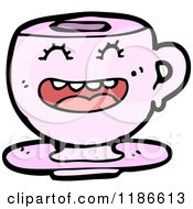 Cartoon Of A Teacup With Face Royalty Free Vector Illustration